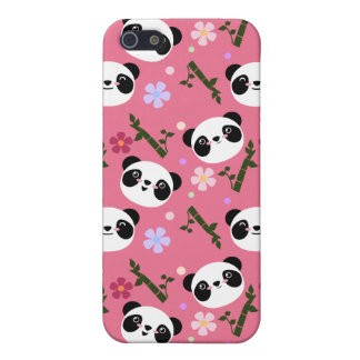 Kawaii Panda on Pink iPhone 5/5S Case