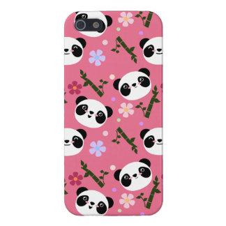 Kawaii Panda on Pink iPhone 5 Cover