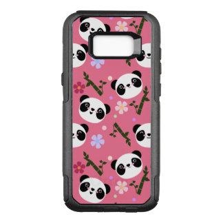 Kawaii Panda on Pink OtterBox Commuter Samsung Galaxy S8+ Case