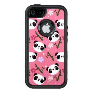 Kawaii Panda on Pink OtterBox Defender iPhone Case