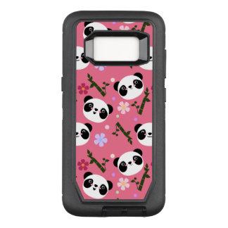 Kawaii Panda on Pink OtterBox Defender Samsung Galaxy S8 Case