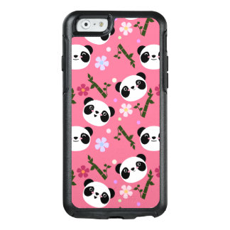 Kawaii Panda on Pink OtterBox iPhone 6/6s Case