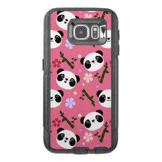 Kawaii Panda on Pink OtterBox Samsung Galaxy S6 Case