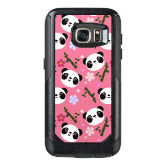 Kawaii Panda on Pink OtterBox Samsung Galaxy S7 Case