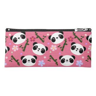 Kawaii Panda on Pink Pencil Case