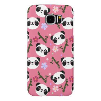Kawaii Panda on Pink Samsung Galaxy S6 Case