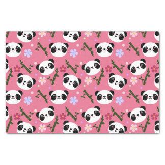 Kawaii Panda on Pink Tissue Paper