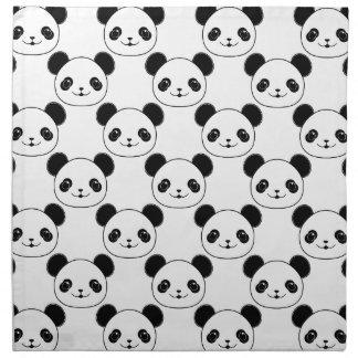 Kawaii Panda Pattern In Black And White Napkin