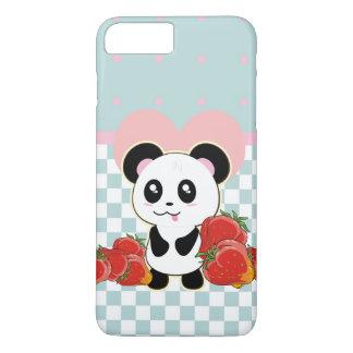 Kawaii Panda strawberries cute iPhone 8 Plus/7 Plus Case