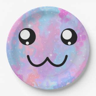 Kawaii Pastel Colorfull Space Background Paper Plate