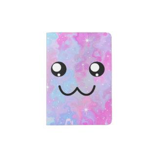 Kawaii Pastel Colorfull Space Background Passport Holder