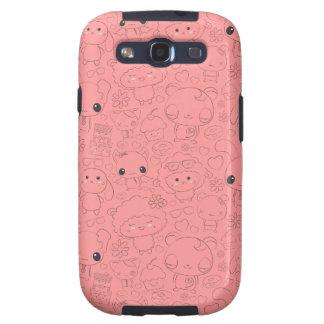 Kawaii Pattern Galaxy S3 Cover