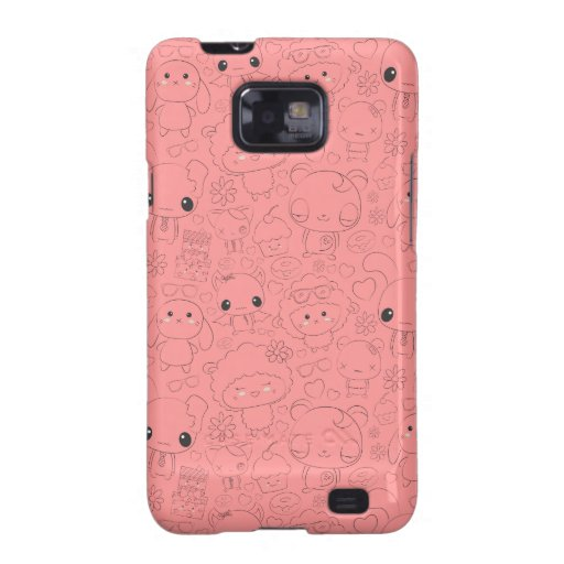 Kawaii Pattern Samsung Galaxy S2 Cover