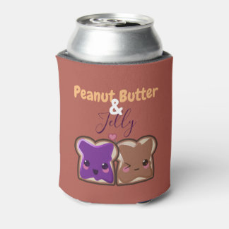 Kawaii Peanut Butter and Jelly Friends Can Cooler