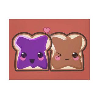 Kawaii Peanut Butter and Jelly Friends Canvas Print