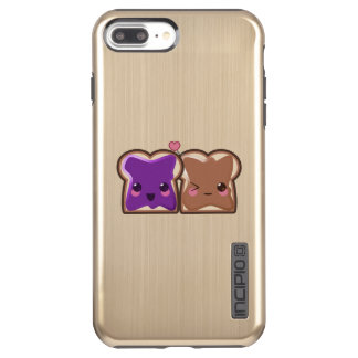 Kawaii Peanut Butter and Jelly Friends Incipio DualPro Shine iPhone 8 Plus/7 Plus Case