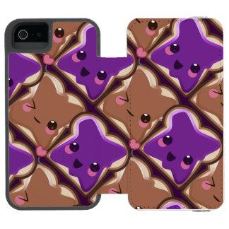 Kawaii Peanut Butter and Jelly Friends Incipio Watson™ iPhone 5 Wallet Case