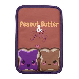Kawaii Peanut Butter and Jelly Friends iPad Mini Sleeve