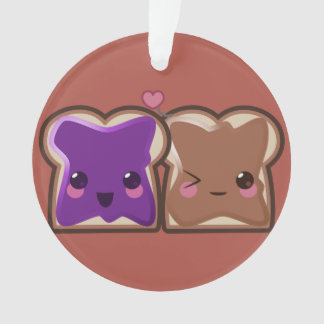 Kawaii Peanut Butter and Jelly Friends Ornament