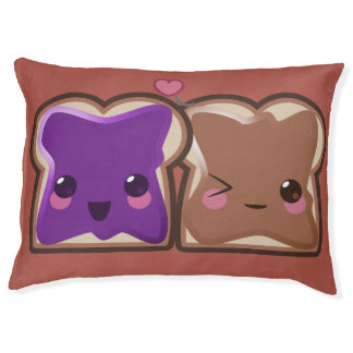 Kawaii Peanut Butter and Jelly Friends Pet Bed