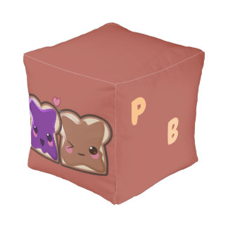Kawaii Peanut Butter and Jelly Friends Pouf