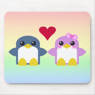 kawaii penguin love sweety tweety mouse pad