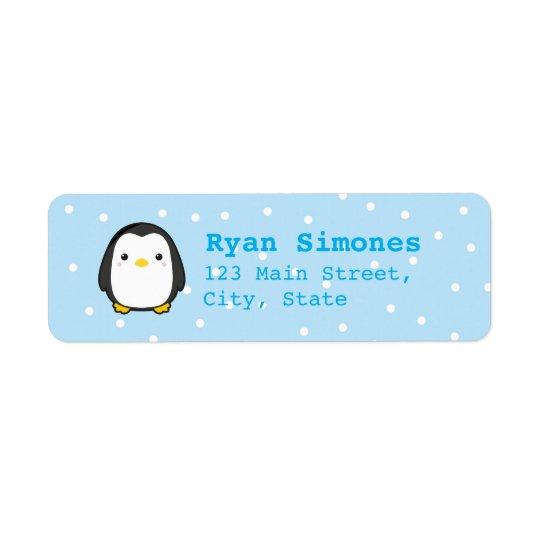 Kawaii Penguin Return Address Label
