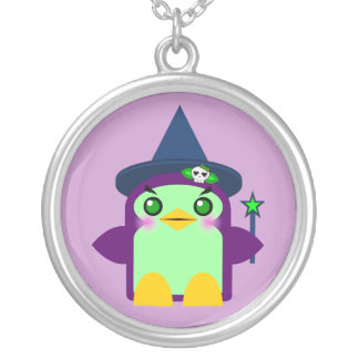 Kawaii Penguin Witch Sterling Silver Necklace