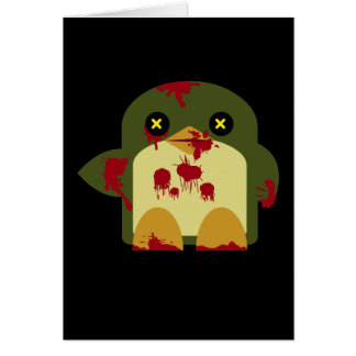 Kawaii Penguin Zombie Gruesome Horror Card