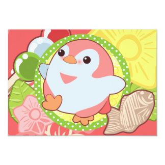 "Kawaii Penguins 5"" X 7"" Invitation Card"