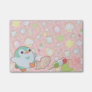 Kawaii Penguins and Wagashi Post-it® Notes