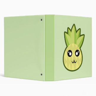 Kawaii pineapple vinyl binders
