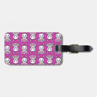 Kawaii Pink Bunny Pattern Luggage Tag
