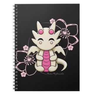 Kawaii Pink Dragon Spiral Notebook