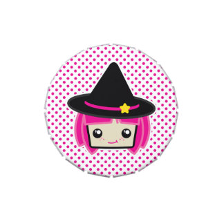 Kawaii Pink Haired Witch Candy Tin