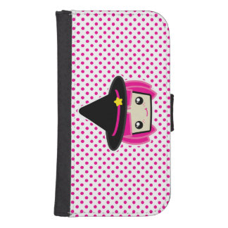 Kawaii Pink Haired Witch Samsung Wallet Case Phone Wallet