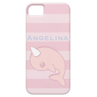 Kawaii Pink Narwhal iPhone 5 Cover
