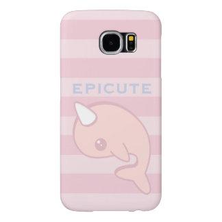 Kawaii Pink Narwhal Samsung Galaxy S6 Cases