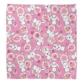 kawaii pink pattern bandana