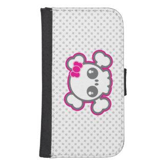 Kawaii Pink Ribbon Skull Samsung Wallet Case Phone Wallet Cases