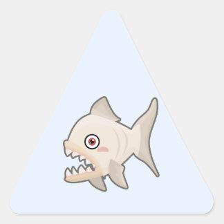 Kawaii Piranha Triangle Sticker