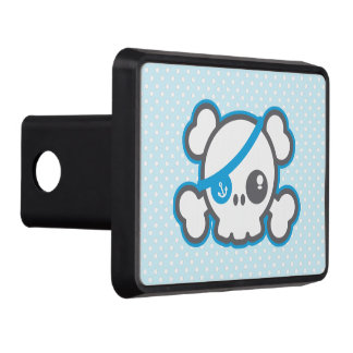 Kawaii Pirate Skull Trailer Hitch Cover