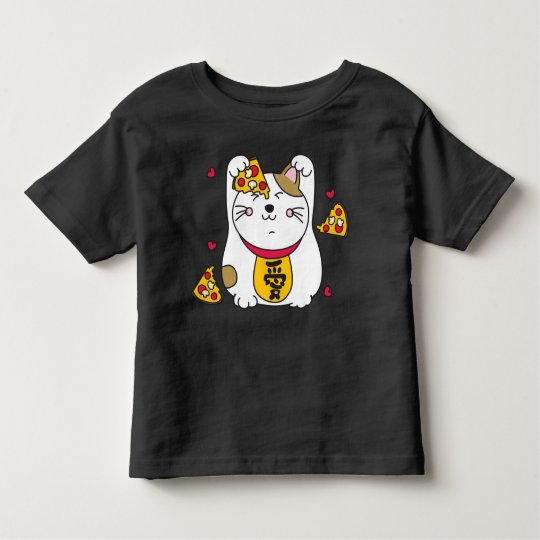 Kawaii Pizza Kitty Cat Toddler T-shirt