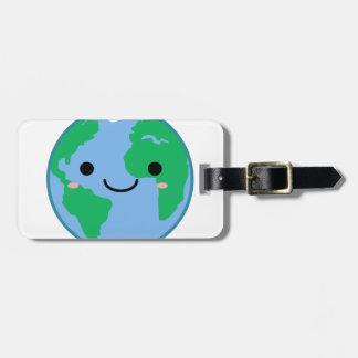 Kawaii Planet Earth Bag Tag