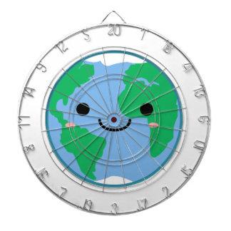 Kawaii Planet Earth Dartboard