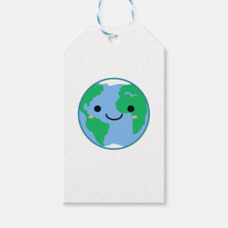 Kawaii Planet Earth Gift Tags