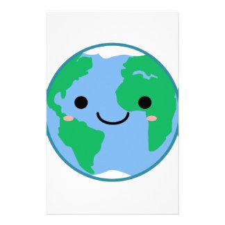 Kawaii Planet Earth Stationery Design