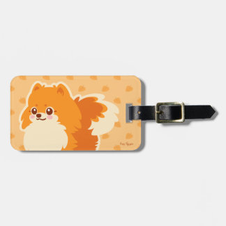 Kawaii Pomeranian Cartoon Dog Bag Tag