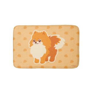 Kawaii Pomeranian Cartoon Dog Bath Mat