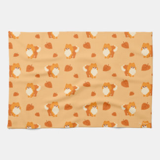 Kawaii Pomeranian Cartoon Dog Kitchen Towel